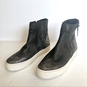 Frye Gia Lug Zip Bootie Sneakers Anthracite 9.5 M